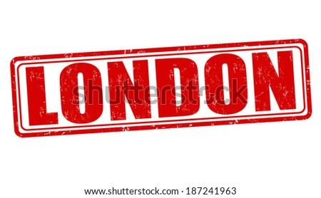London grunge rubber stamp on white, vector illustration - stock vector