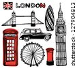 London illustration - stock vector