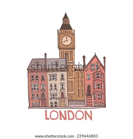 London Illustration. - stock vector