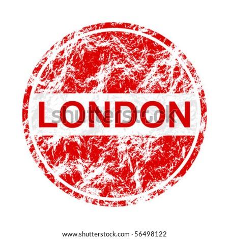 london label - stock vector