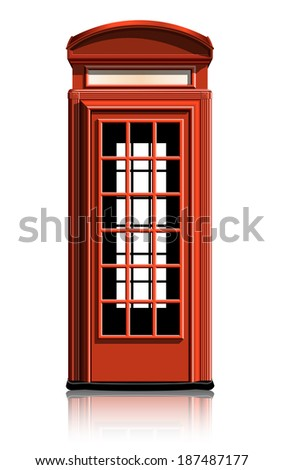 london phone booth. vector illustration. gradient mash - stock vector