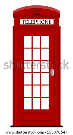 London phone box , vector illustration - stock vector