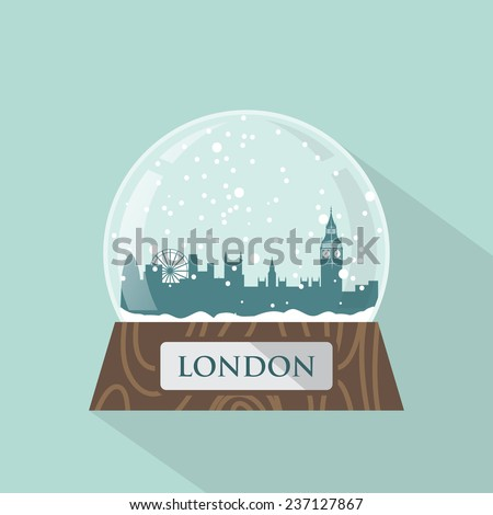 London snow globe - vector illustration - stock vector
