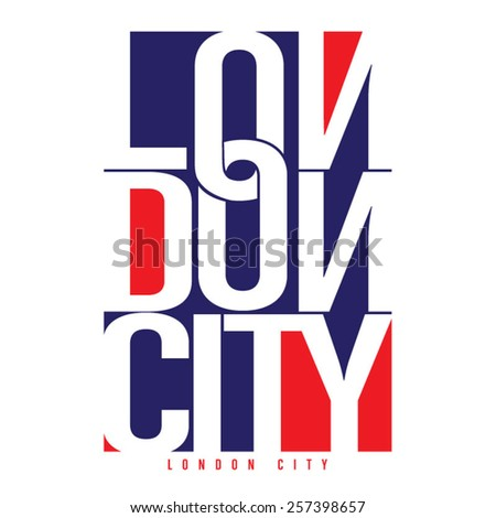 London typography,, t-shirt graphics, vectors - stock vector