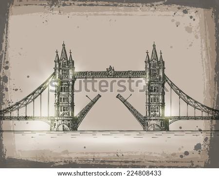 London. Vector format - stock vector