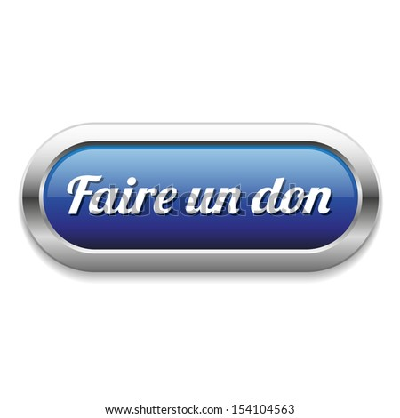 Long blue register now button in french language - stock vector