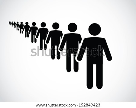Long Queue - stock vector
