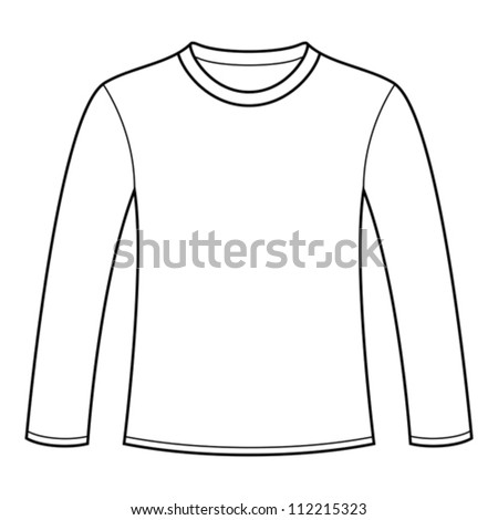 Long Sleeve Shirt Vector Template Long Sleeved t Shirt Template