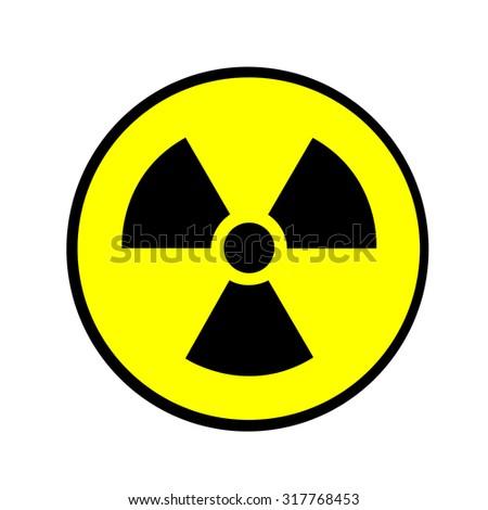 Lonizing Radiation Hazard Symbol - stock vector
