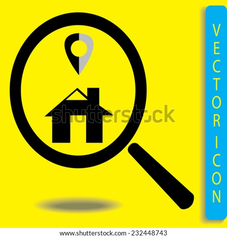 Looking For An home.vector icon - stock vector