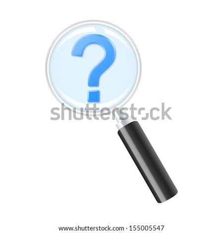 Looking for answer. Vector illustration. - stock vector