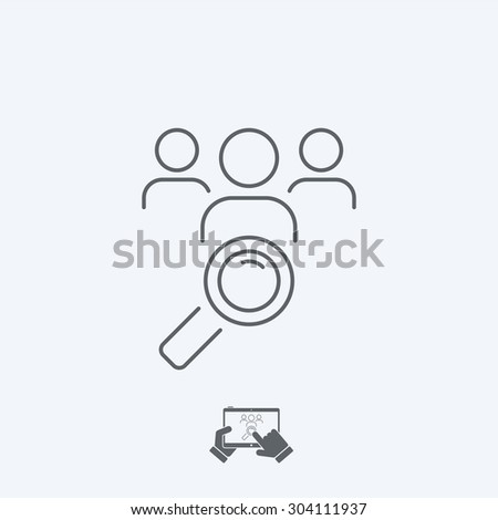 Looking for people - Thin series - stock vector