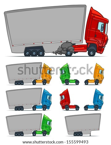 Lorry. Cartoon illustration - stock vector