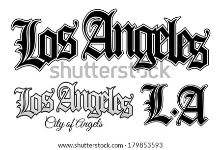 Los Angeles - stock vector