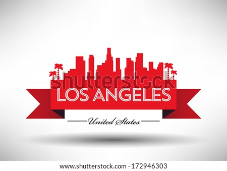 Stock images similar to id 158628575 los angeles skyline Logo designers los angeles