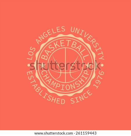 Los Angeles university stamp for typography. It is Vector graphics print for t-shirts. - stock vector