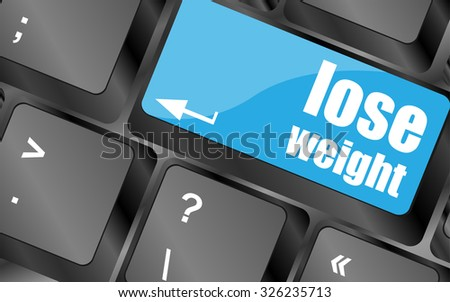 Lose weight on keyboard key button, vector illustration - stock vector