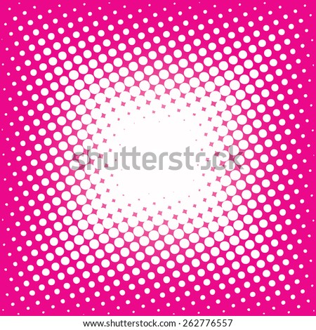 lots of white dots on a pink background - stock vector