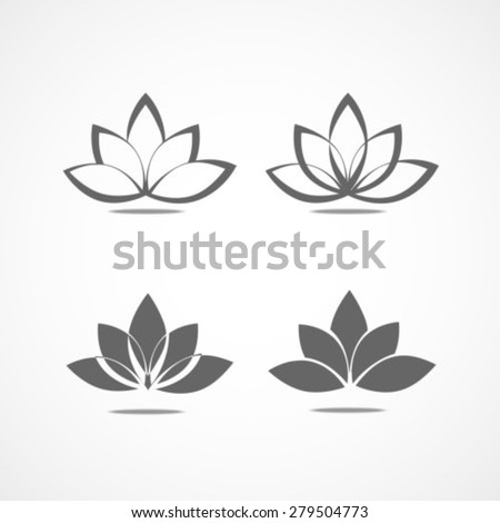 Lotus flower sign - stock vector