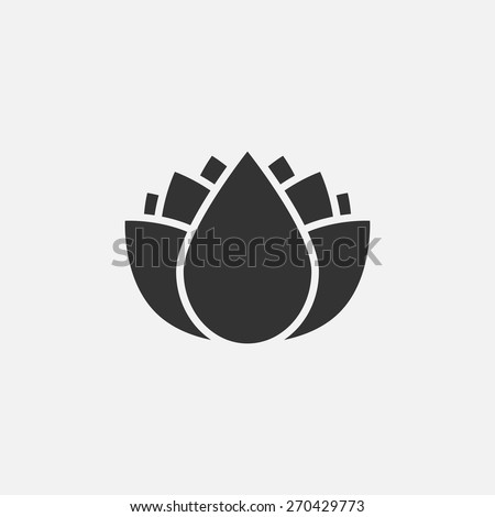 lotus flowers icon - stock vector