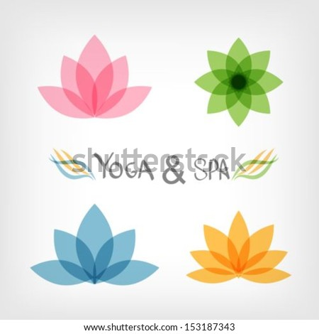 Yoga Lotus Symbol Lotus Stock Photos, Illustrations, and Vector Art