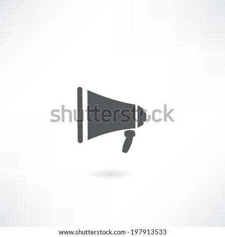 Loudspeaker icon, vector. - stock vector