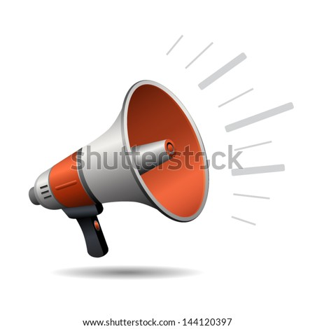Loudspeaker or megaphone icon isolated on white background. Vector - stock vector