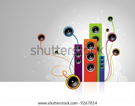 Loudspeakersgarden - stock vector