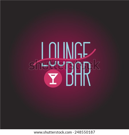 Lounge bar logo template - stock vector