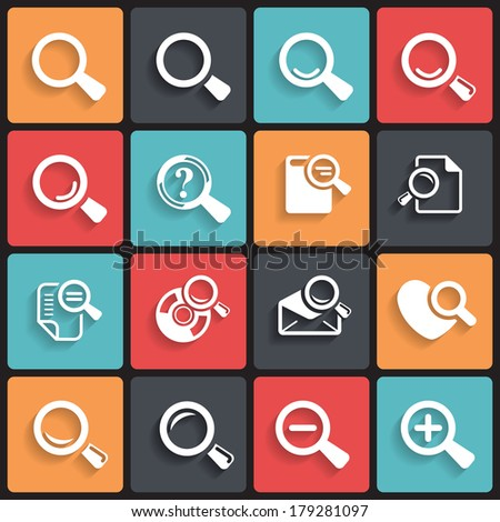 Loupe Icons & Simbols. Abstract vector illustration. - stock vector