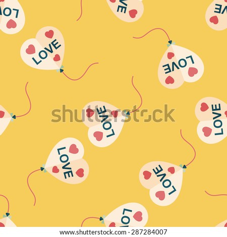 love balloons flat icon,eps10 seamless pattern background - stock vector
