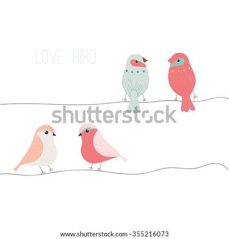 Love bird,bird vector set,bird vector collection,full vector template - stock vector