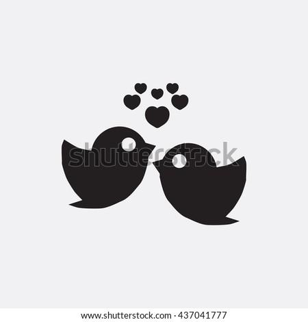 Love bird Icon, Love bird Icon Eps10, Love bird Icon Vector, Love bird Icon Eps, Love bird Icon Jpg, Love bird Icon, Love bird Icon Flat, Love bird Icon App, Love bird Icon Web, Love bird Icon Art - stock vector