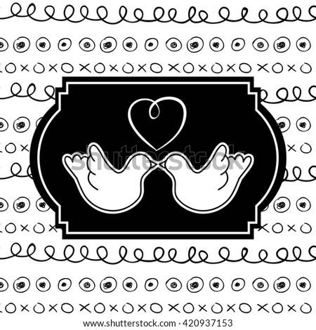 love card design  - stock vector