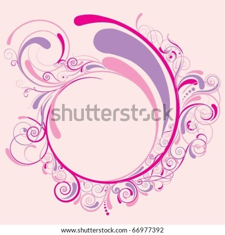 Love circle design - stock vector