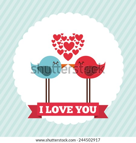 love concept design, vector illustration eps10 graphic - stock vector