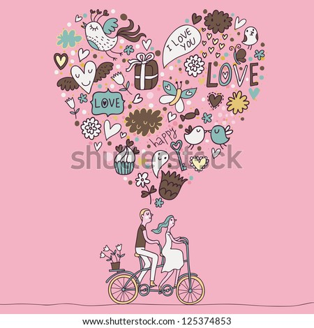 Love concept for any romantic ideas - stock vector