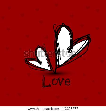 Love concept with hearts. EPS 10. - stock vector