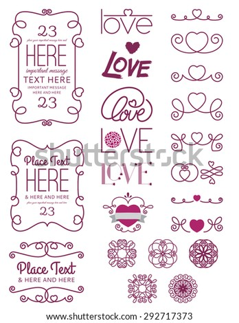Love Design Elements Two - stock vector