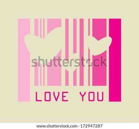 love design over pink background vector illustration   - stock vector