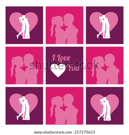 Love design over pink vector illustration. - stock vector