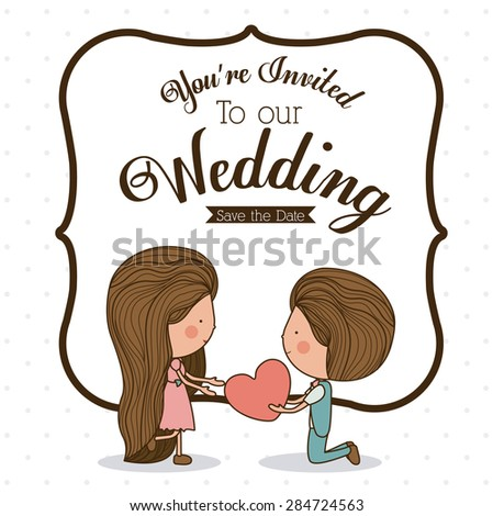 Love design over white background, vector illustration - stock vector