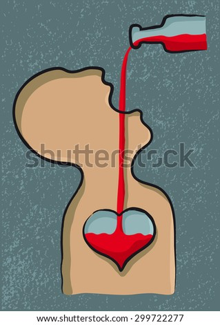 love drink - stock vector