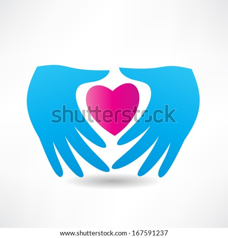 love for others icon - stock vector