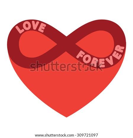Love forever - stock vector