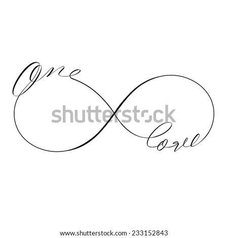 Love Forever icon valentines day vector symbol - stock vector