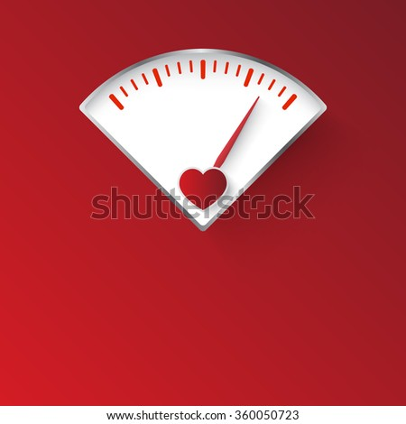 love gauge concept design - stock vector