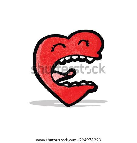love heart cartoon character - stock vector
