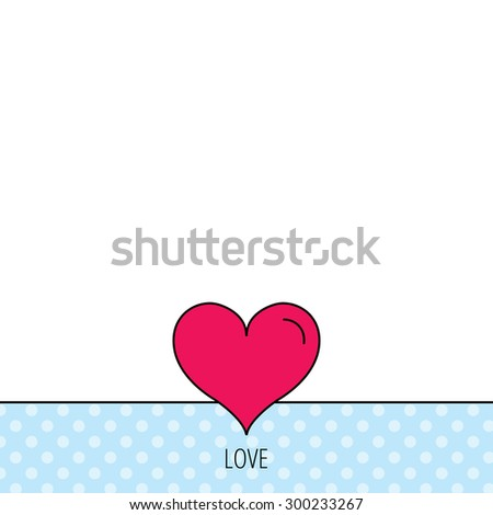 Love heart icon. Life sign. Circles seamless pattern. Background with red icon. Vector - stock vector