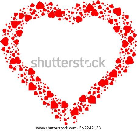 Love Heart . Red Heart . Heart Shape. Heart Background . Heart Texture. Valentine's Day Heart . Heart Pattern . Creative Heart . Heart Symbol . Heart Icon . Vector Heart . - stock vector